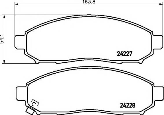 Тормозные колодки Тормозные колодки дисковые TEXTAR ABE арт. 2422701