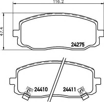 Тормозные колодки Тормозные колодки дисковые TEXTAR ABE арт. 2427501