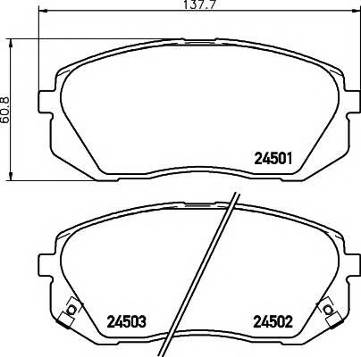 Тормозные колодки Тормозные колодки дисковые Textar ABE арт. 2450101