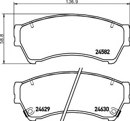 Тормозные колодки Тормозные колодки дисковые TEXTAR ABE арт. 2458202