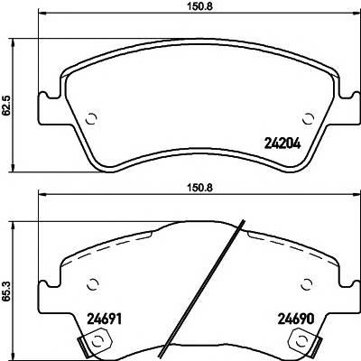 Тормозные колодки Тормозные колодки дисковые Textar ABE арт. 2420401