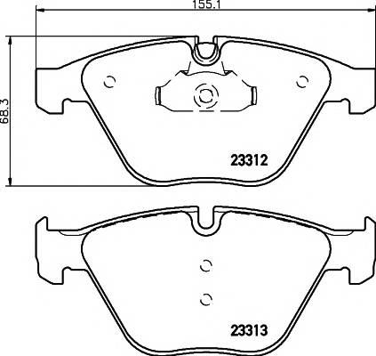 Тормозные колодки TX 2331204 / 23312 203  0 5 Тормозные колодки дисковые Textar PAGID арт. 2331211