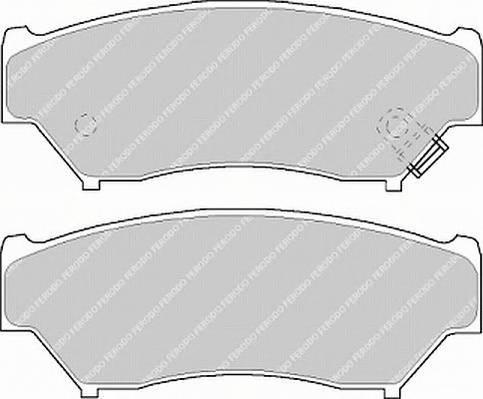 Тормозные колодки Тормозные колодки дисковые PAGID арт. FDB1020