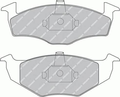 Тормозные колодки Тормозные колодки дисковые PAGID арт. FDB1101