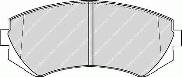 Тормозные колодки Тормозные колодки Ferodo PAGID арт. FDB1166