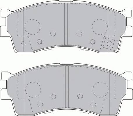 Тормозные колодки Тормозные колодки Ferodo PAGID арт. FDB1602