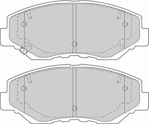 Гальмівні колодки, дискові ABE арт. FDB1658