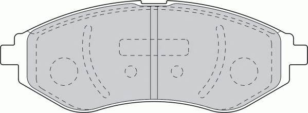 Тормозные колодки Тормозные колодки дисковые ABE арт. FDB1699