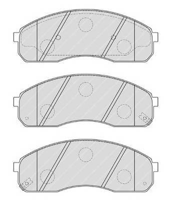 Тормозные колодки Тормозные колодки Ferodo ABE арт. FDB1990