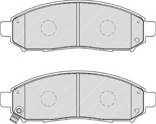 Гальмівні колодки, дискові ABE арт. FDB1997