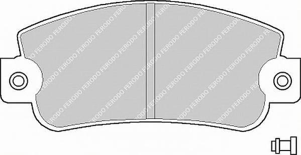Тормозные колодки Тормозные колодки Ferodo ABE арт. FDB346