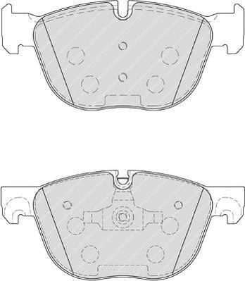 Тормозные колодки Тормозные колодки дисковые ABE арт. FDB4052