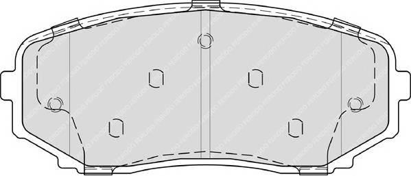 Гальмівні колодки, дискові ABE арт. FDB4365