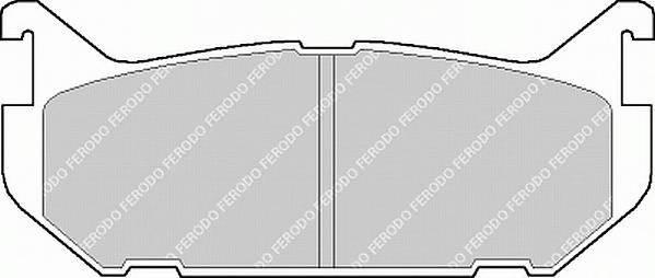 Тормозные колодки Тормозные колодки Ferodo PAGID арт. FDB869