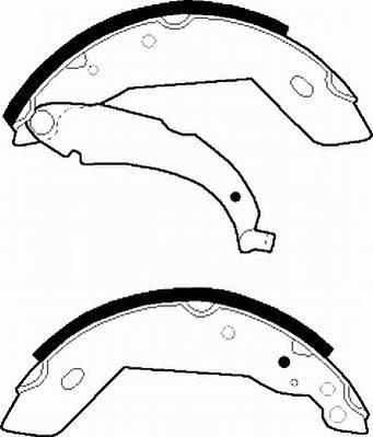 Тормозные колодки Тормозные колодки барабанные Ferodo ABE арт. FSB225