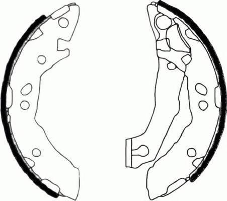 Тормозные колодки Тормозные колодки барабанные Ferodo PAGID арт. FSB605