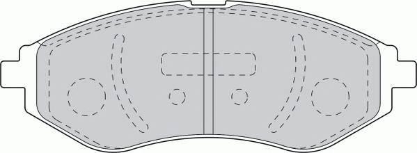 Тормозные колодки Тормозные колодки передние Lanos/Aveo 1.2 1.4 Ferodo PAGID арт. FSL1699