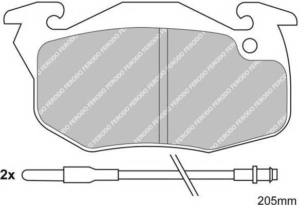 Тормозные колодки Тормозные колодки Ferodo ABE арт. FSL393