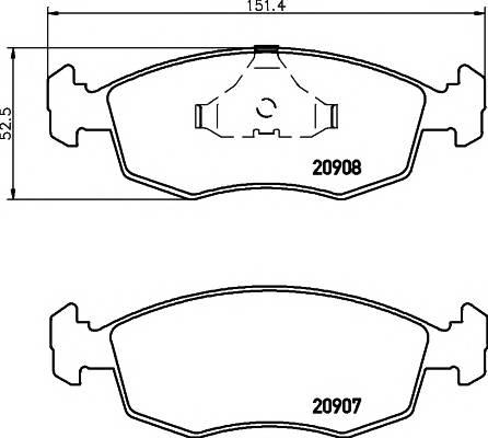 Тормозные колодки 20907/18,0мм Тормозные колодки PAGID PAGID арт. T1005