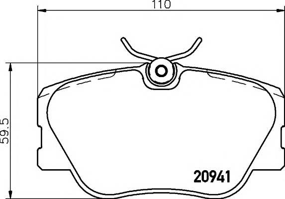 Тормозные колодки 21028/19,3мм Тормозные колодки PAGID PAGID арт. T5005