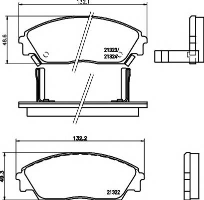 Тормозные колодки 21323/15,0мм Тормозные колодки PAGID PAGID арт. T0012