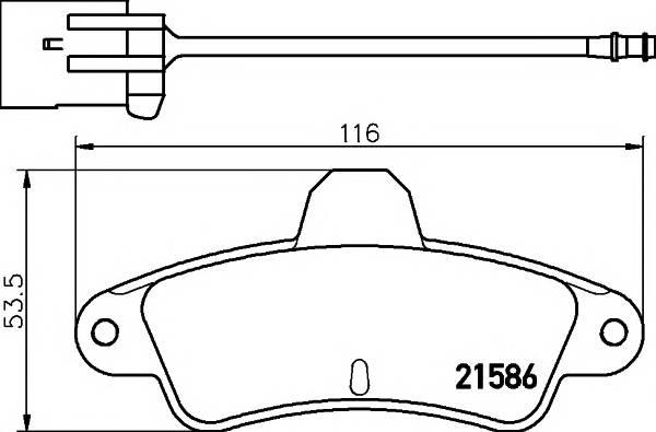 Тормозные колодки 21586/15,0мм Тормозные колодки PAGID PAGID арт. T9026