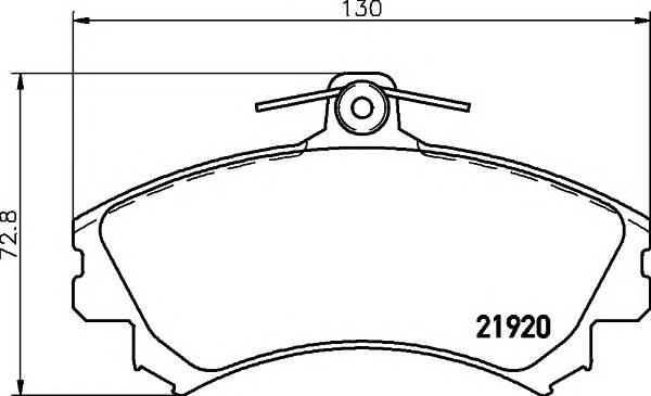 Тормозные колодки 21920/17,4мм Тормозные колодки PAGID PAGID арт. T1564