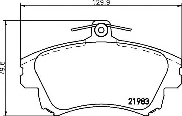 Тормозные колодки 21983/17,3мм Тормозные колодки PAGID PAGID арт. T3095