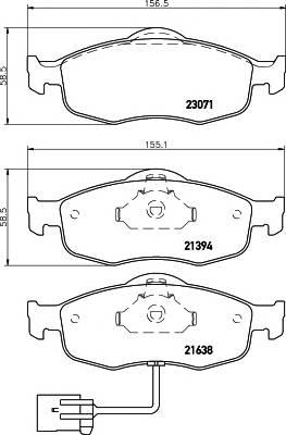 Тормозные колодки 21638/18,8мм Тормозные колодки PAGID PAGID арт. T1081