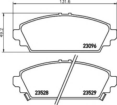 Тормозные колодки 23096/17,2мм Тормозные колодки PAGID PAGID арт. T3122