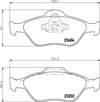 Тормозные колодки 23604/18,8мм Тормозные колодки PAGID PAGID арт. T1193