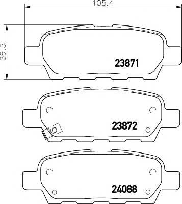 Тормозные колодки 23871/13,8мм Тормозные колодки PAGID PAGID арт. T1334