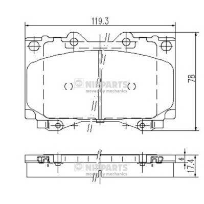 Тормозная система Гальмiвнi колодки, к-кт. PAGID арт. J3602097