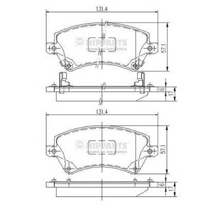 Тормозная система Гальмiвнi колодки, к-кт. PAGID арт. J3602101