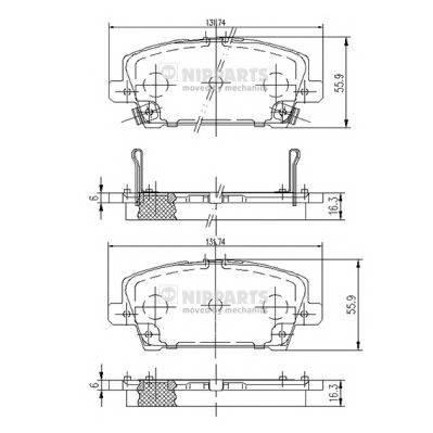 Тормозная система Гальмiвнi колодки, к-кт. ABE арт. J3604065
