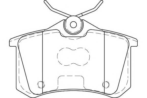Тормозные колодки Тормозные колодки Wagner PAGID арт. WBP23554B