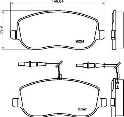 Тормозные колодки Тормозные колодки дисковые ABE арт. 2026101