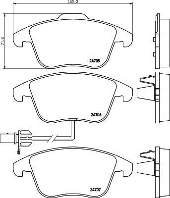 Тормозные колодки Тормозные колодки дисковые Textar ABE арт. 2470601