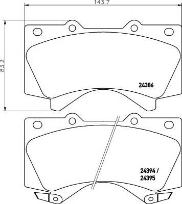 Тормозные колодки Тормозные колодки дисковые TEXTAR ABE арт. 2438601