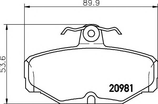 Тормозные колодки Тормозные колодки дисковые PAGID арт. 2098101