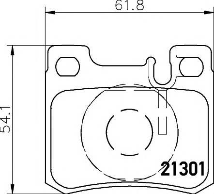 Тормозные колодки Тормозные колодки дисковые TEXTAR арт. 2130103