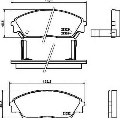 Тормозные колодки Тормозные колодки дисковые PAGID арт. 2132201