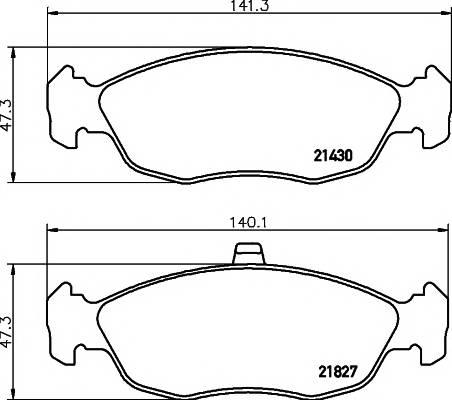 Тормозные колодки Тормозные колодки дисковые PAGID арт. 2182702