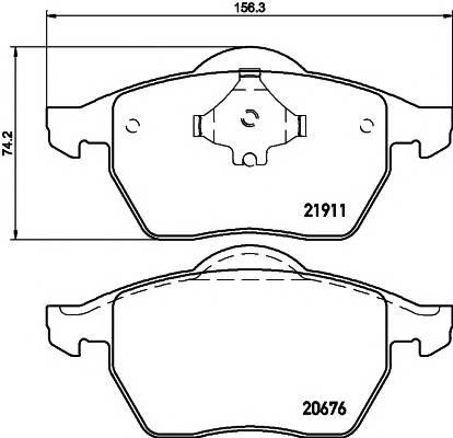 Тормозные колодки Тормозные колодки дисковые TEXTAR PAGID арт. 2191102