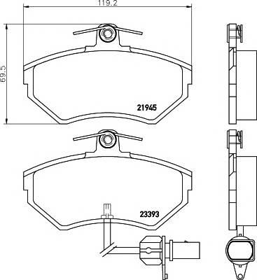 Тормозные колодки Тормозные колодки дисковые TEXTAR ABE арт. 2194504