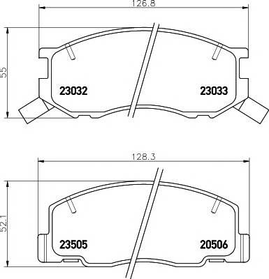 Тормозные колодки Тормозные колодки дисковые ABE арт. 2303201
