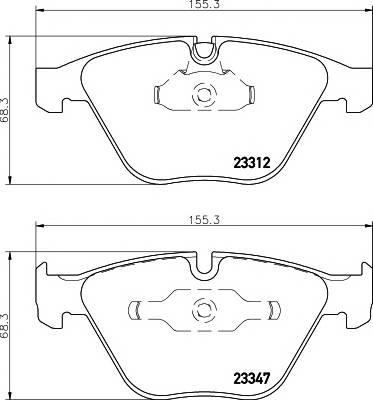 Тормозные колодки TX 2331211 / 23312 203  9 5 T4165 Тормозные колодки дисковые TEXTAR PAGID арт. 2331204