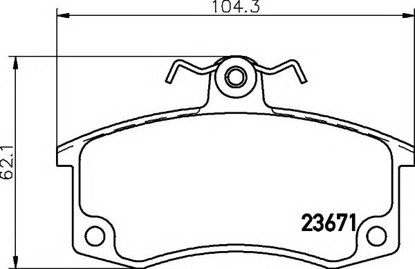 Тормозные колодки Тормозные колодки передние LADA 2110/21099 TEXTAR PAGID арт. 2367101