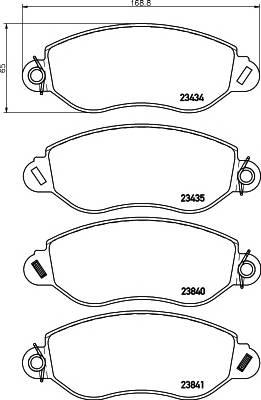 Тормозные колодки Тормозные колодки дисковые TEXTAR ABE арт. 2343401