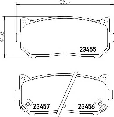 Тормозные колодки Тормозные колодки дисковые TEXTAR PAGID арт. 2345501